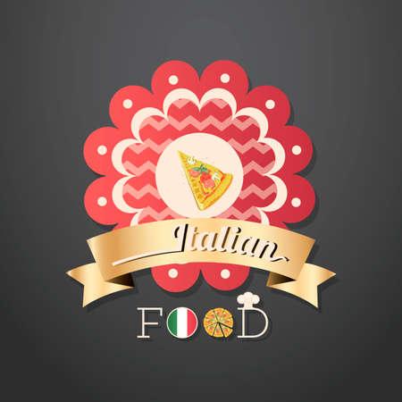 comida italiana: Etiquetas de los alimentos italianos Vectores