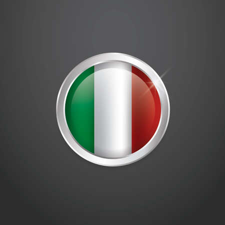 flag button: Italy flag button