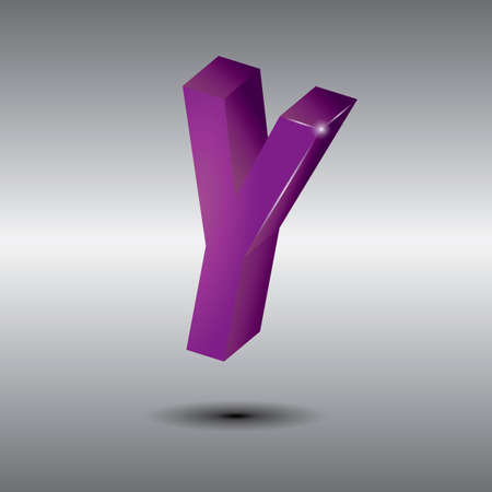 3 dimensional: Letter y
