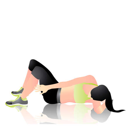 woman exercising: Woman exercising Illustration