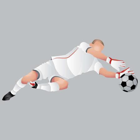 arquero futbol: Portero de fútbol en la acción