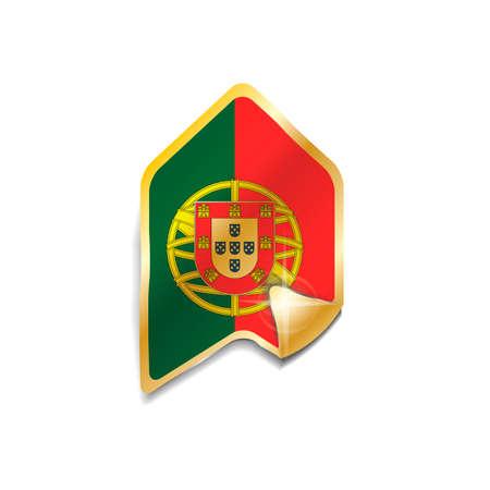 portugal flag: Portugal flag sticker Illustration