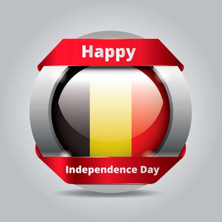 belgian: Belgian independence day badge