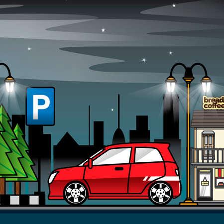 car park: Car park Illustration