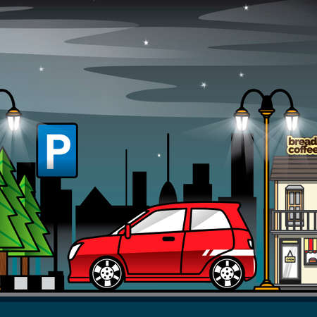 Parkplatz  Standard-Bild - 45434481
