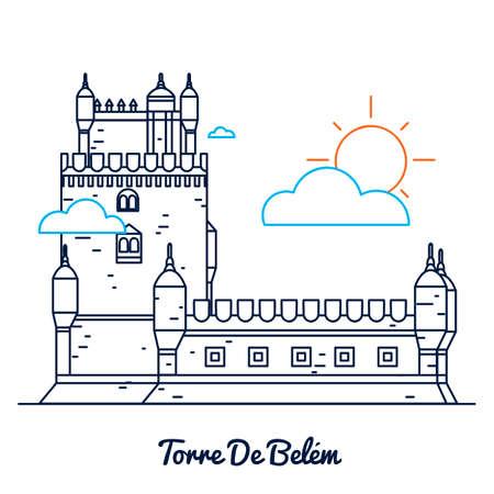 belem: Torre De Belem Illustration