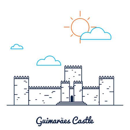 Guimaraes castle Ilustração