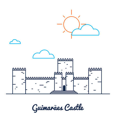 Guimaraes castle Illustration