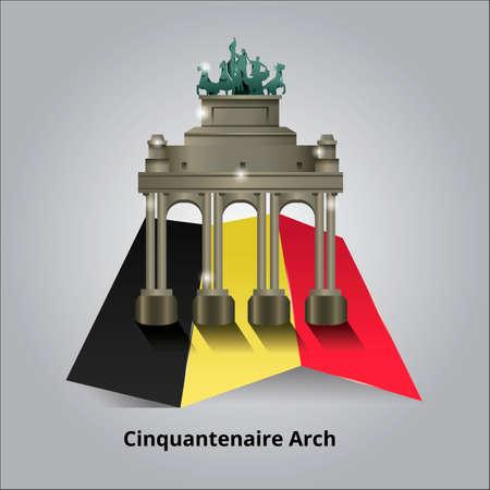 famous place: Cinquantenaire Arch