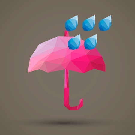 faceted: Faceted umbrella and rain