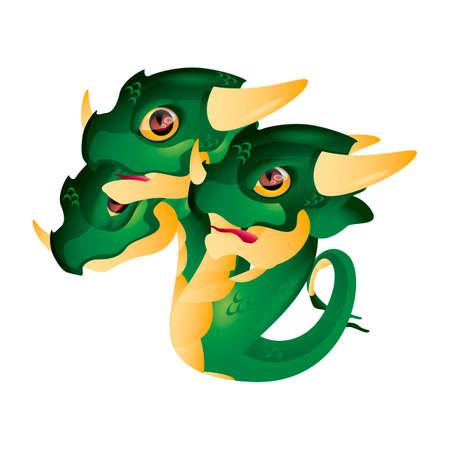 three headed: Dragon