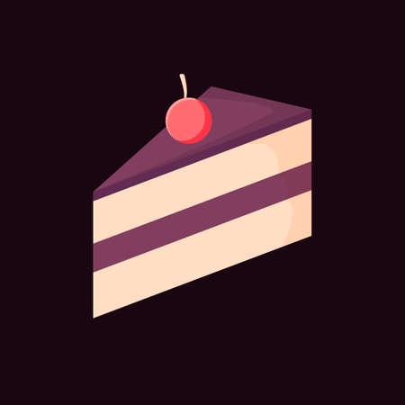 trozo de pastel: Pedazo de pastel
