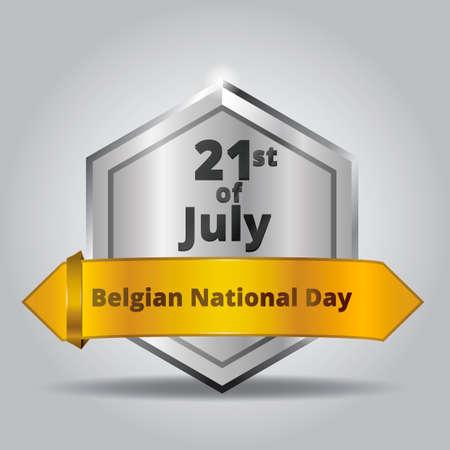belgian: Belgian national day badge