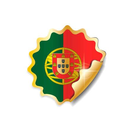 bandera de portugal: Portugal pegatina de la bandera Vectores