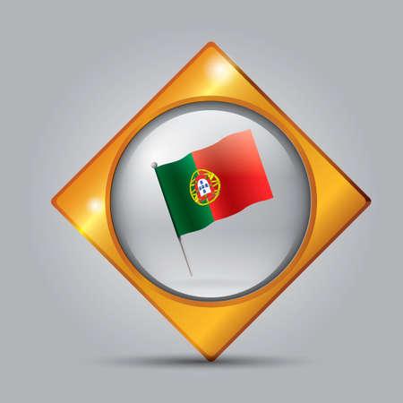 portugal: Portugal flag button