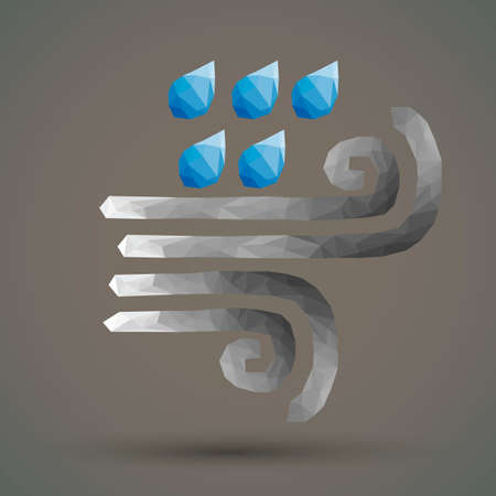 faceted: Faceted wind and rain Illustration