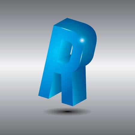 3 dimensional: Letter r