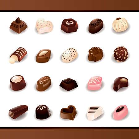 choco chips: Set of chocolate candies