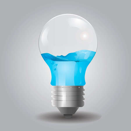 electric bulb: Electric water bulb Illustration