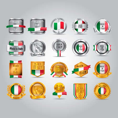 made in italy: set of made in Italy badges