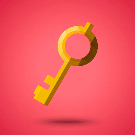 protected: Golden key Illustration