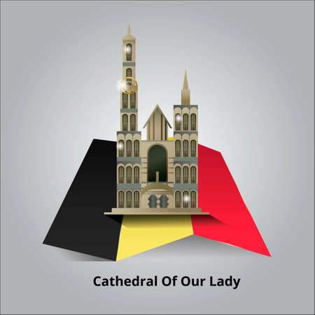 of our lady: Cathedral of our Lady Illustration