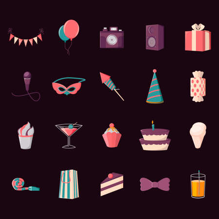 noisemaker: Collection of party icons