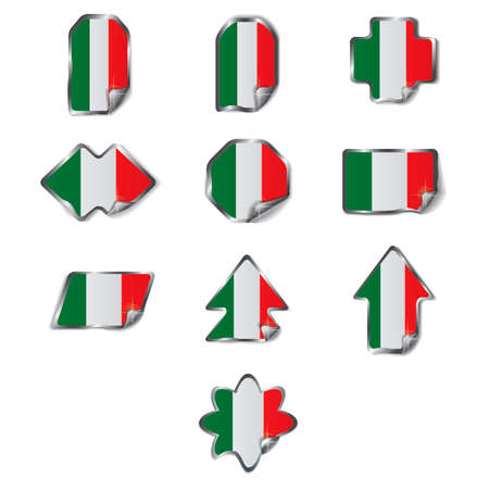 parallelogram: Set of Italy labels