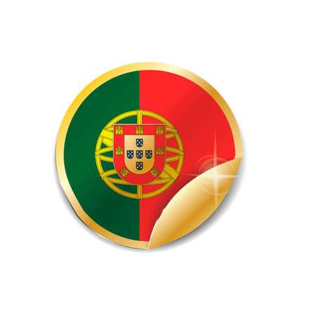 drapeau portugal: Portugal flag sticker Illustration