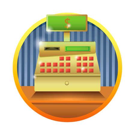 maquina registradora: Caja registradora Vectores