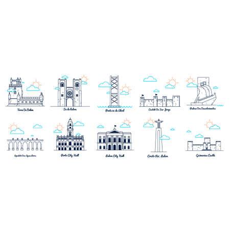 Lisbon landmarks and monuments
