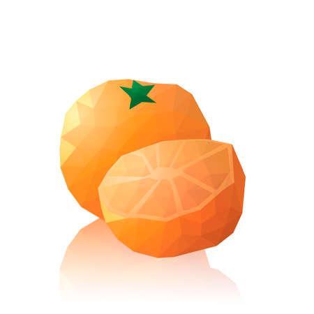 faceted: Faceted orange Illustration
