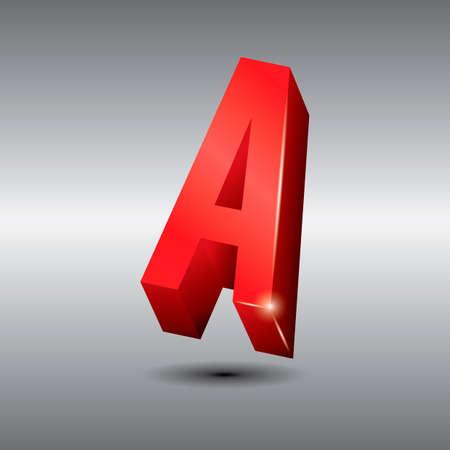 3 dimensional: Letter a