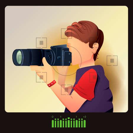 Mann, die Aufnahme Standard-Bild - 45435431