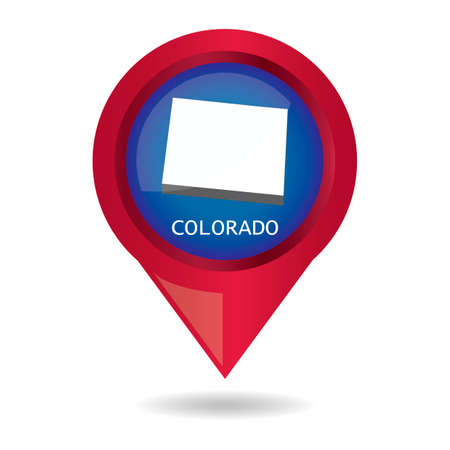 colorado state: Map pointer with colorado state