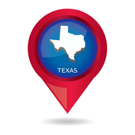 texas state: Map pointer with texas state