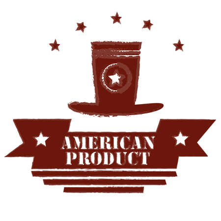 tophat: American product label Illustration