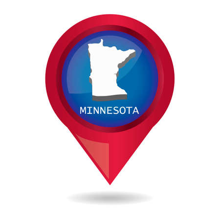 map pointer: Map pointer with minnesota state