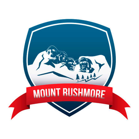 Mount rushmore label