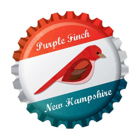 finch: Purple finch Illustration