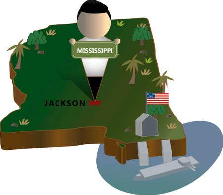 port jackson: Mississippi state map