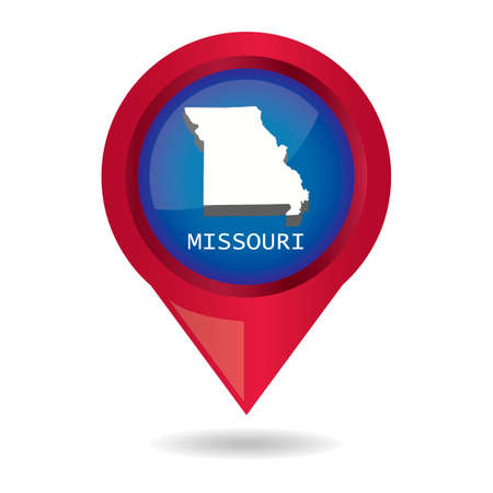 map pointer: Map pointer with missouri state