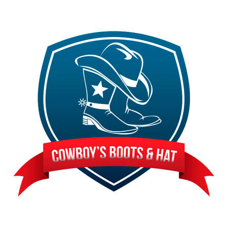 Cowboys boots and hat label