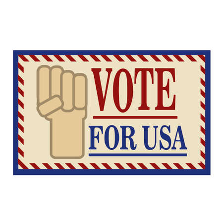 vote: Vote for usa label Illustration