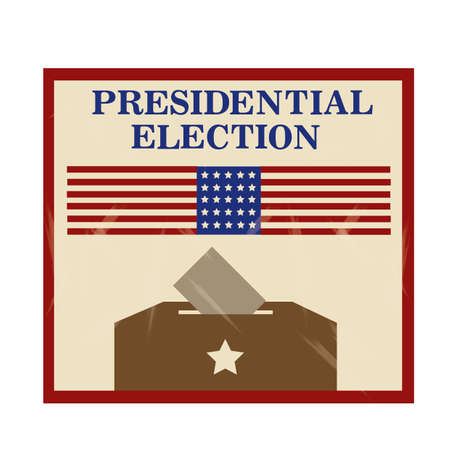 presidential: Presidential election label Illustration