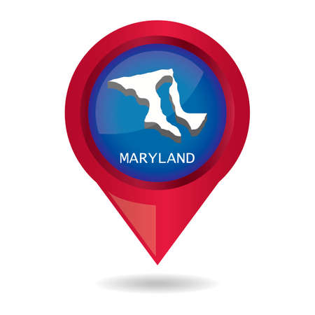 map pointer: Map pointer with maryland state