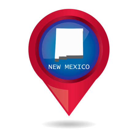 new mexico: Map pointer with new mexico state