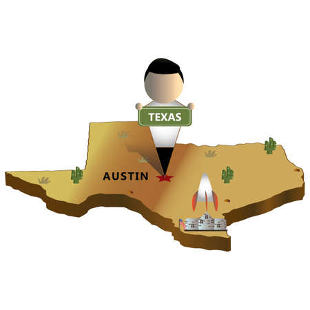 texas state: Texas state map