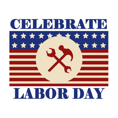 celebrate: Celebrate labor day label