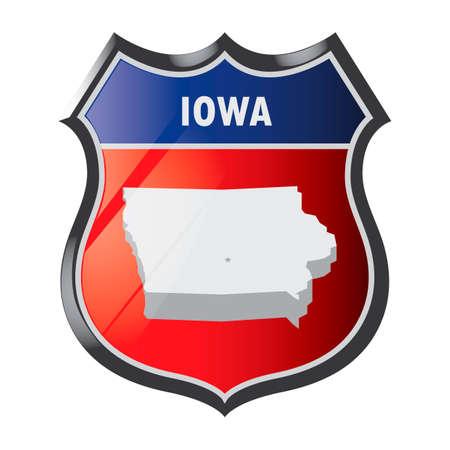 iowa: Iowa state Illustration
